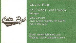 Celt's Pub web