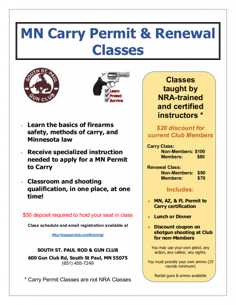 Carry Permit Class Flyer