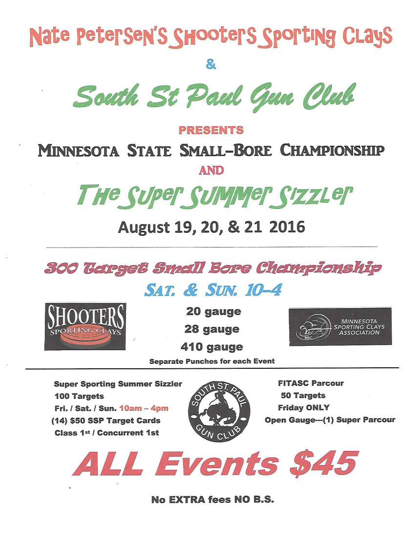 2016 State Smallbore & Summer Sizzler Flyer